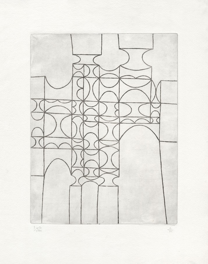 Anwar Jalal Shemza City Gate, 1961 intaglio (etching) 56.5 x 43.8 cm 22 1/4 x 17 1/4 in