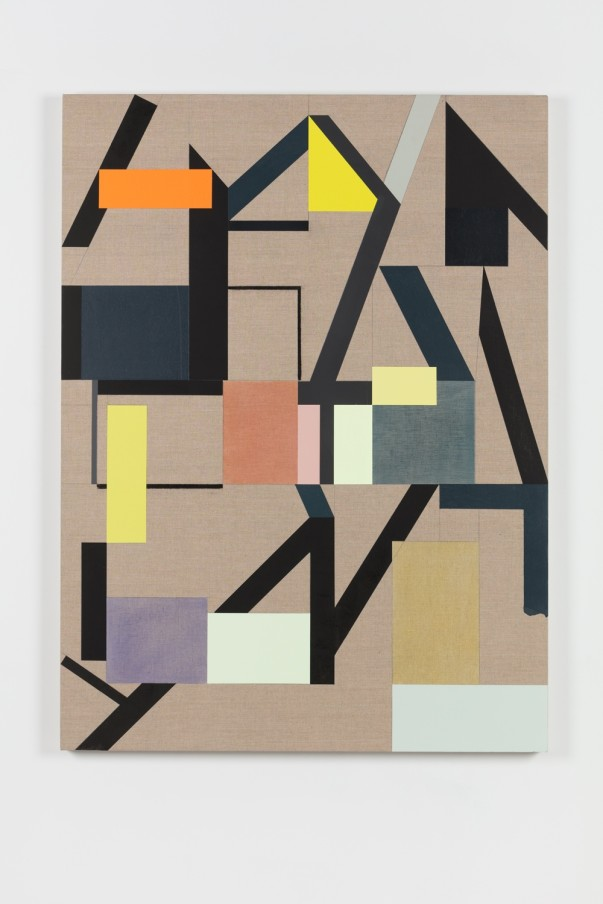 Andrew Bick, Variant t-s – OGVDS [compendium] #4, 2018, Acrylic, pencil, oil, watercolour, and wax on linen on wood, 135 x 100 x 4 cm, 53 1/8 x 39 3/8 x 1 5/8 in