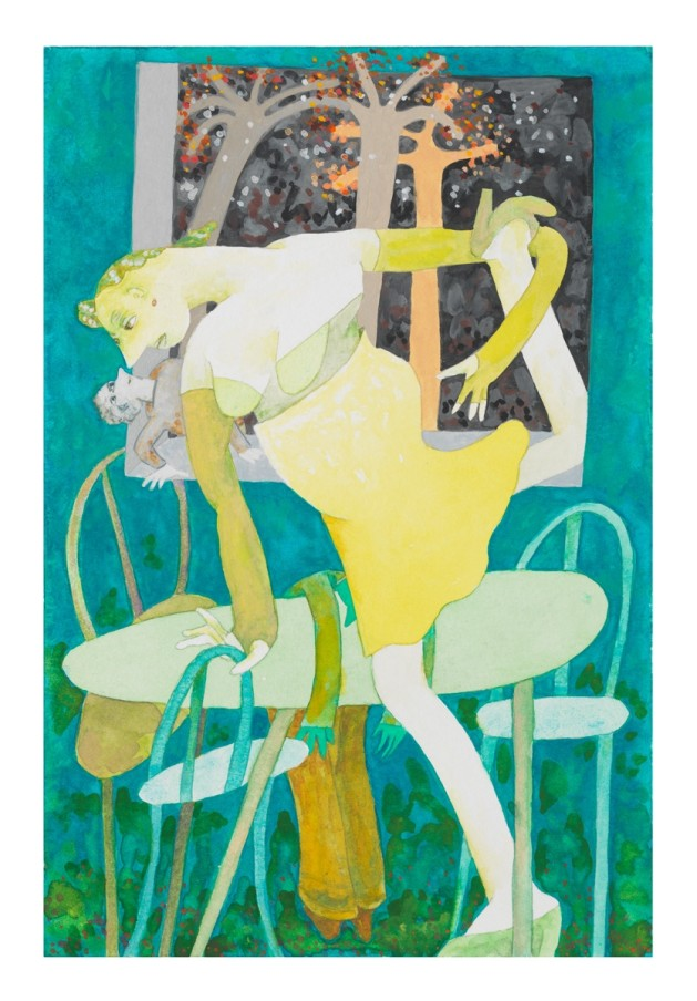 Gladys Nilsson A Table, 2008 Watercolour and gouache on paper 22.7 x 15.2 cm 9 x 6 in