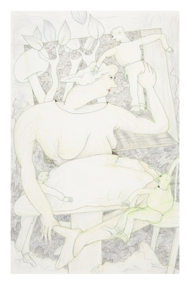 Gladys N A Window #4, 2014 Ink, graphite and coloured pencil on paper 101.9 x 66 cm 40 1/8 x 26 in