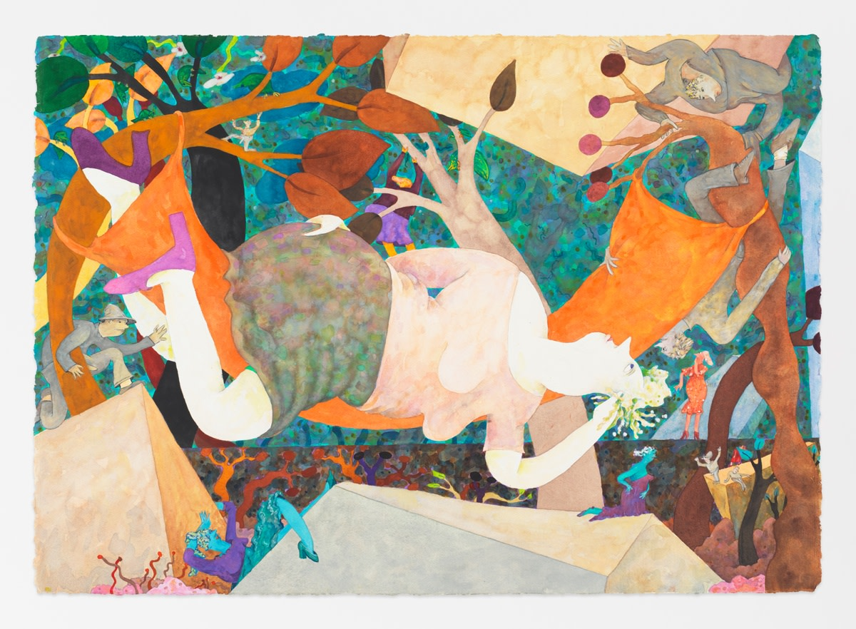 Gladys Nilsson Hammocked, 2013 Watercolour on paper 74.6 x 105 cm 29 3/8 x 41 3/8 in
