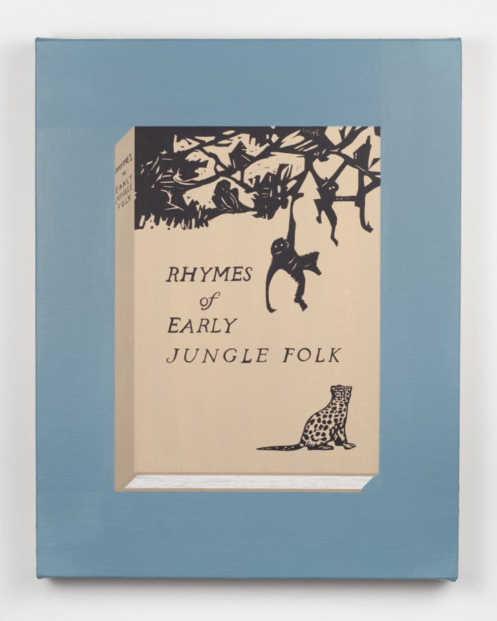 Becky Suss Rhymes of Early Jungle Folk by Mary E. Marcy (Wharton Esherick), 2018 Oil on canvas over panel 35.6 x 27.9 cm 14 x 11 in