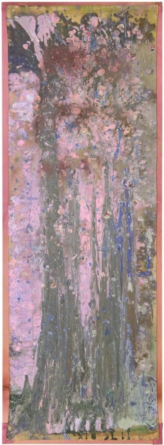 Frank Bowling, Bunch, 1979-2012, Acrylic on canvas, 190.5 x 68.58 cm, 75 x 27 in