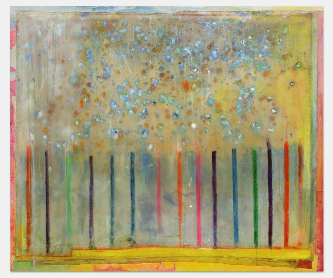 Frank Bowling, Hafenlicht, 2007 , Acyrlic on canvas, 165 x 193 cm, 65 x 76 in