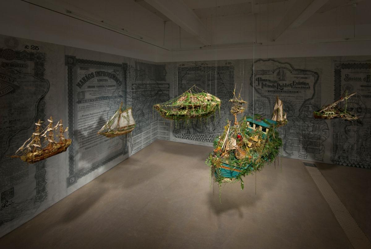 Hew Locke, Off Shore Drift, 2014, Mixed media installation, dimensions variable