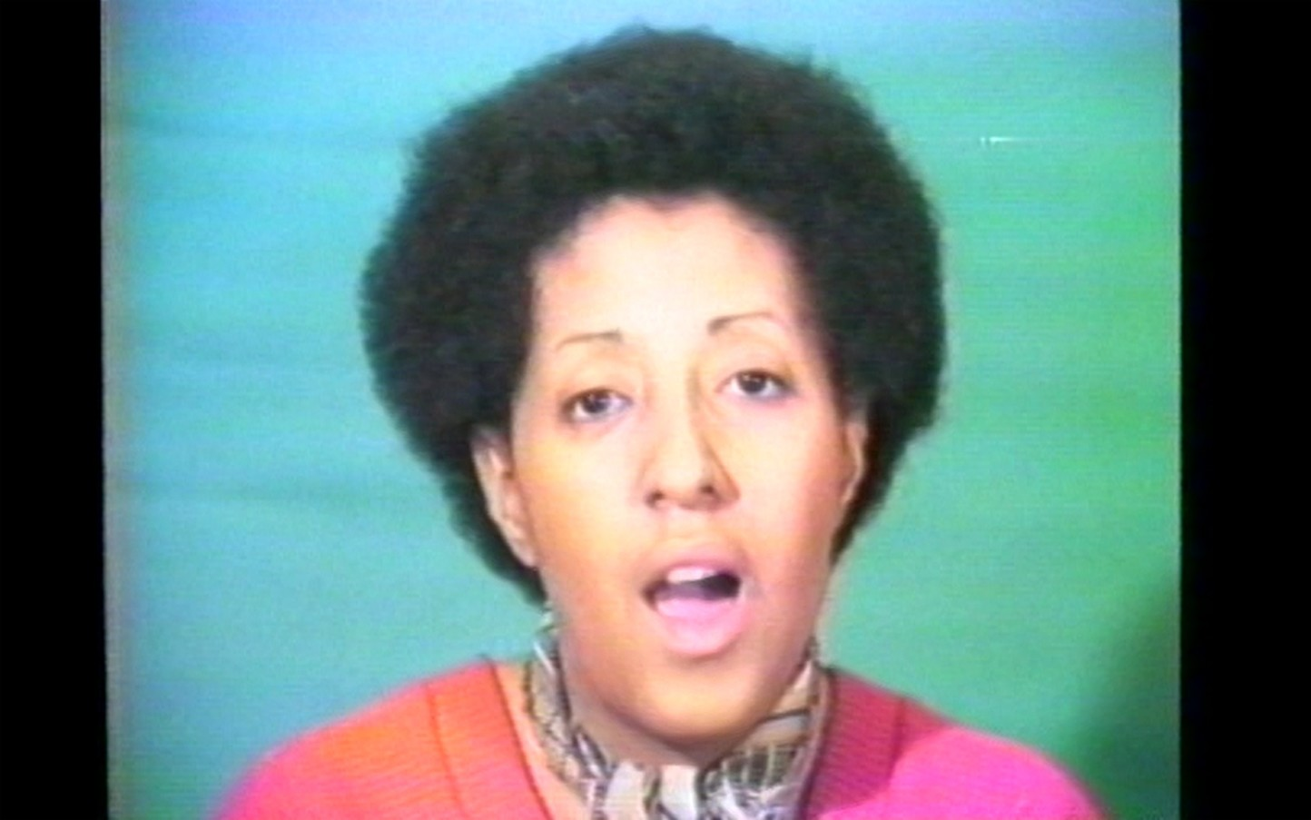 Howardena Pindell, Free, White and 21 (Video Still), 1980, Video, Image courtesy Garth Greenan Gallery, New York