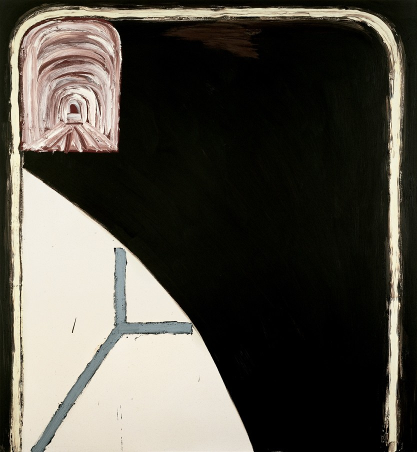 Basil Beattie Through the Night, 1998 oil and wax on canvas 213 x 198 cm 83 7/8 x 78 in