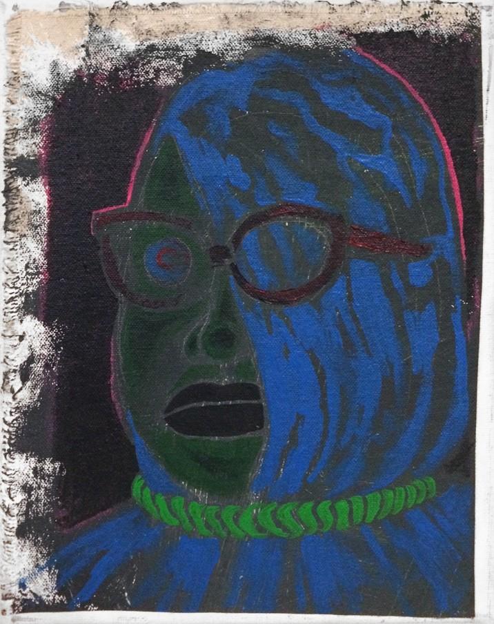 Trenton Doyle Hancock Little Ploid Blue, 2013 acrylic on canvas 25.4 x 20.3 x 7.6 cm 10 x 8 x 3 in