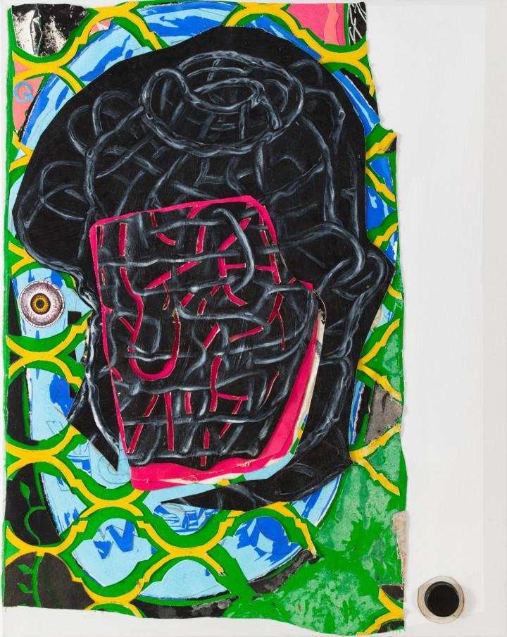 Trenton Doyle Hancock Private Dancer, 2012 mixed media on canvas 76.2 x 61 x 3.8 cm 30 x 24 x 1 1/2 in