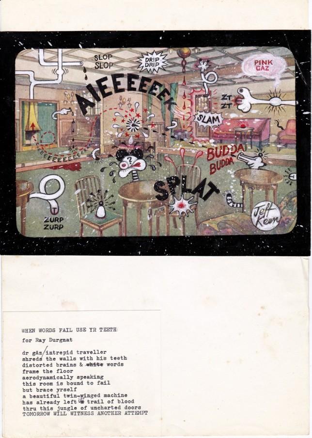 Jeff Keen, AIEEEEEEK!, 1968-70, collage, 39.5 x 32.8 cm, 15 1/2 x 12 7/8 in