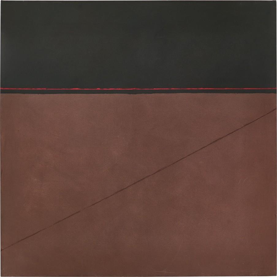 Virginia Jaramillo, Origin Legend, 1972, oil paint on canvas, 182.9 x 182.9 cm, 72 x 72 in