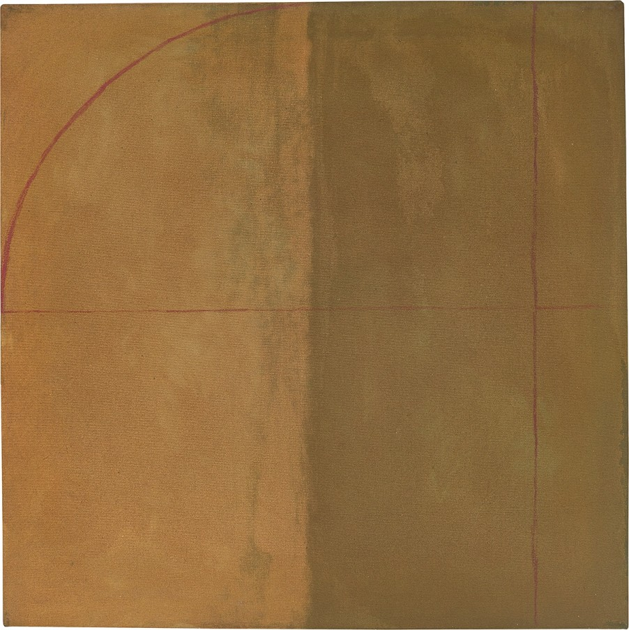 Virginia Jaramillo, Red Arch, 1973, oil paint on canvas, 87 x 86.4 cm, 34 1/4 x 34 in