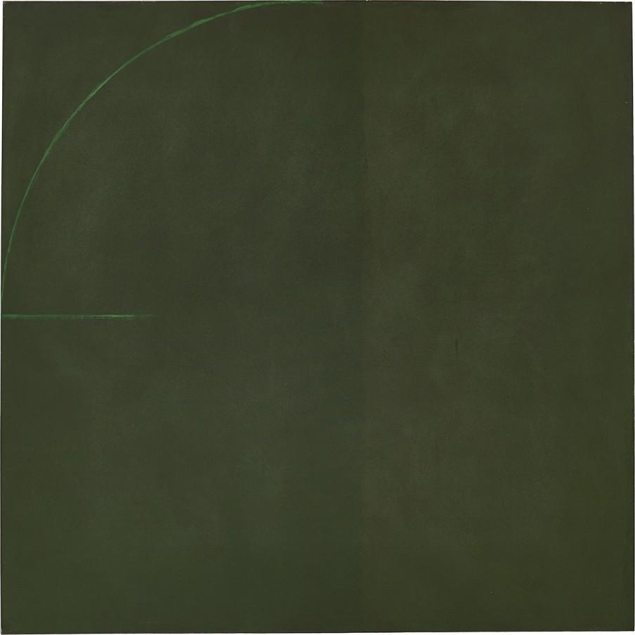 Virginia Jaramillo, Untitled, 1973, oil paint on canvas, 182.9 x 182.9 cm, 72 x 72 in
