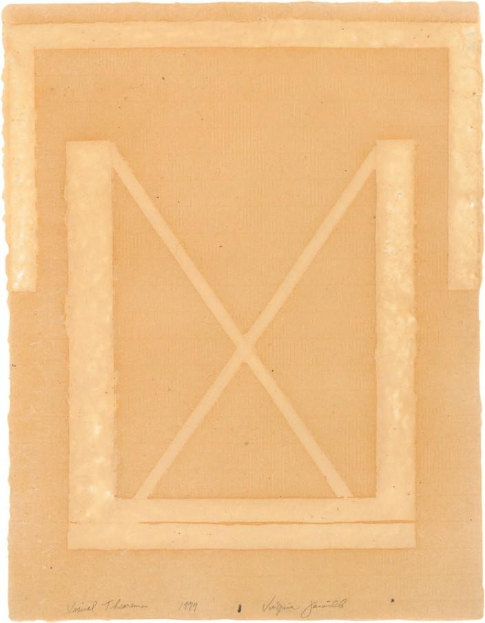 Virginia Jaramillo, Visual Theorems 14, 1979, Linen Fibre and Earth Pigments, 61 x 46.4 cm, 24 x 18 1/4 in