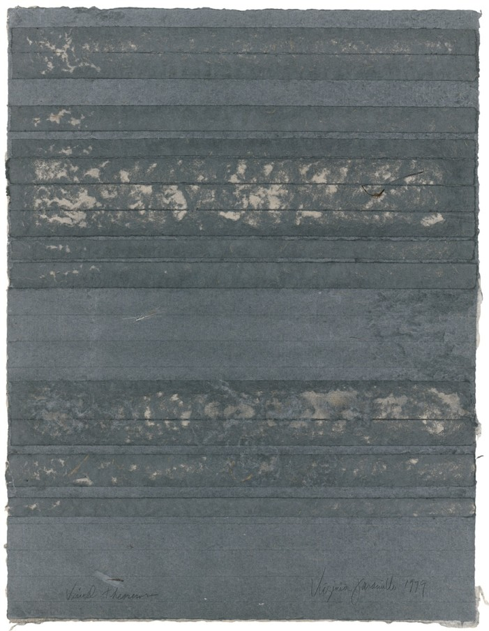 Virginia Jaramillo, Visual Theorems 21, 1979, linen fibre with hand-ground earth pigments, 60.3 x 45.7 cm, 23 3/4 x 18 in