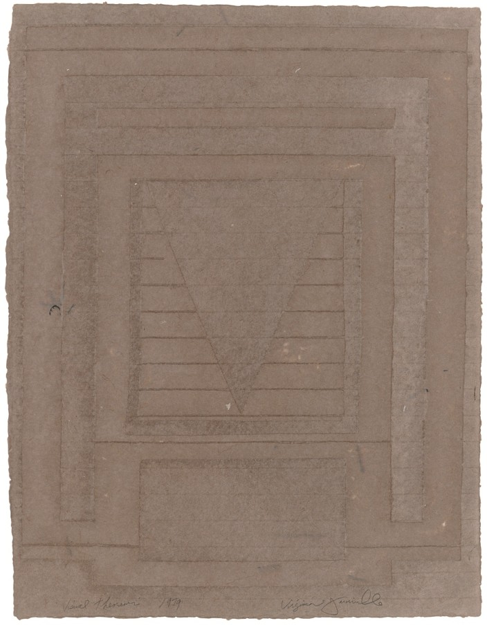Virginia Jaramillo, Visual Theorems 24, 1979, linen fibre with hand-ground earth pigments, 61 x 45.7 cm, 24 x 18 in