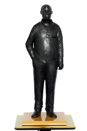 Tom Price, Man on a Horse (Kings Avenue), 2011, bronze, perspex and wooden base 168 x 36 cm