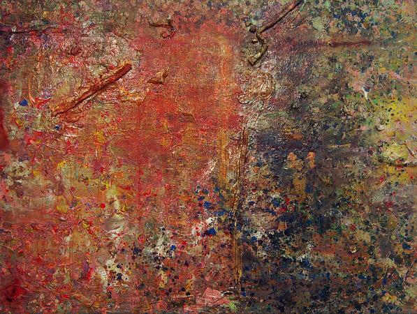 Frank Bowling, Towards Crab Island, 1982, Acrylic on Canvas, 63 x 84 cm