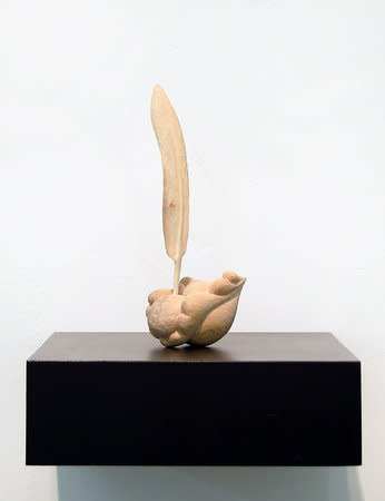 Jane Wilbraham, Feather Miasma, 2010, sycamore, 22x9x7cm