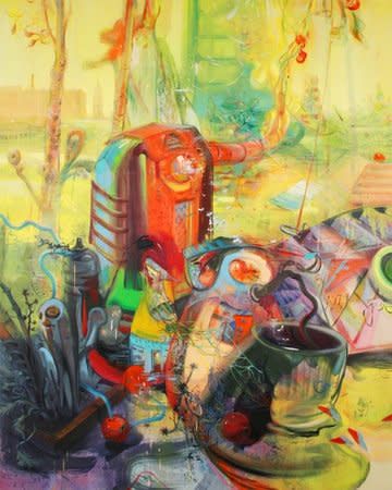 Flaws, Snags and Lies, 2011, Oil on canvas 170 x 137 cm, 67 x 54 in