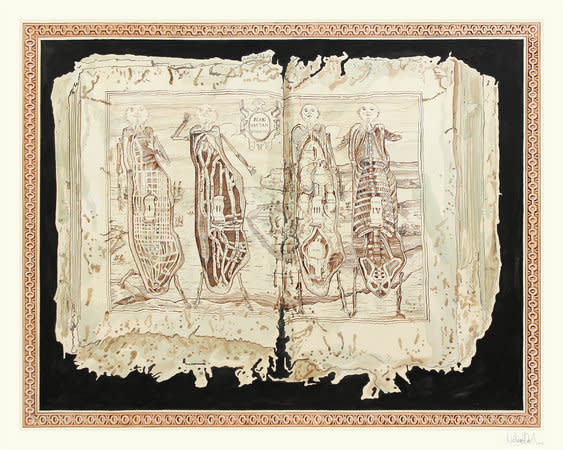 Manhattan Dissected, 2012, Ink on paper, 181x236cm