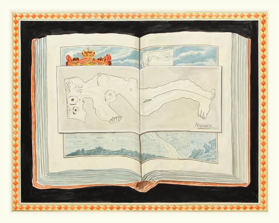 Picasso Nude, Monaco, 2012, Ink on paper, 181x236cm