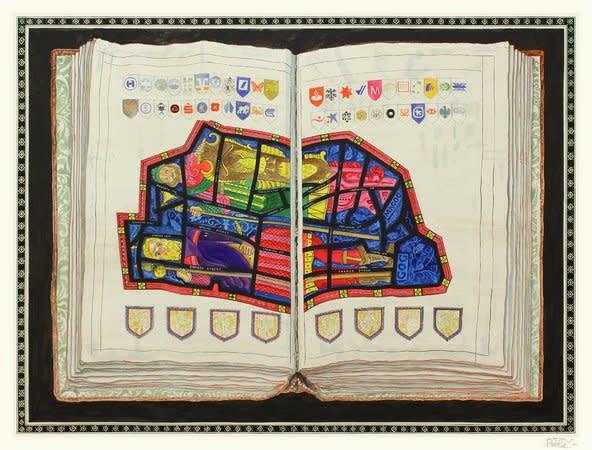 City of London, Gog & Magog, 2012, Ink on paper, 181x236cm