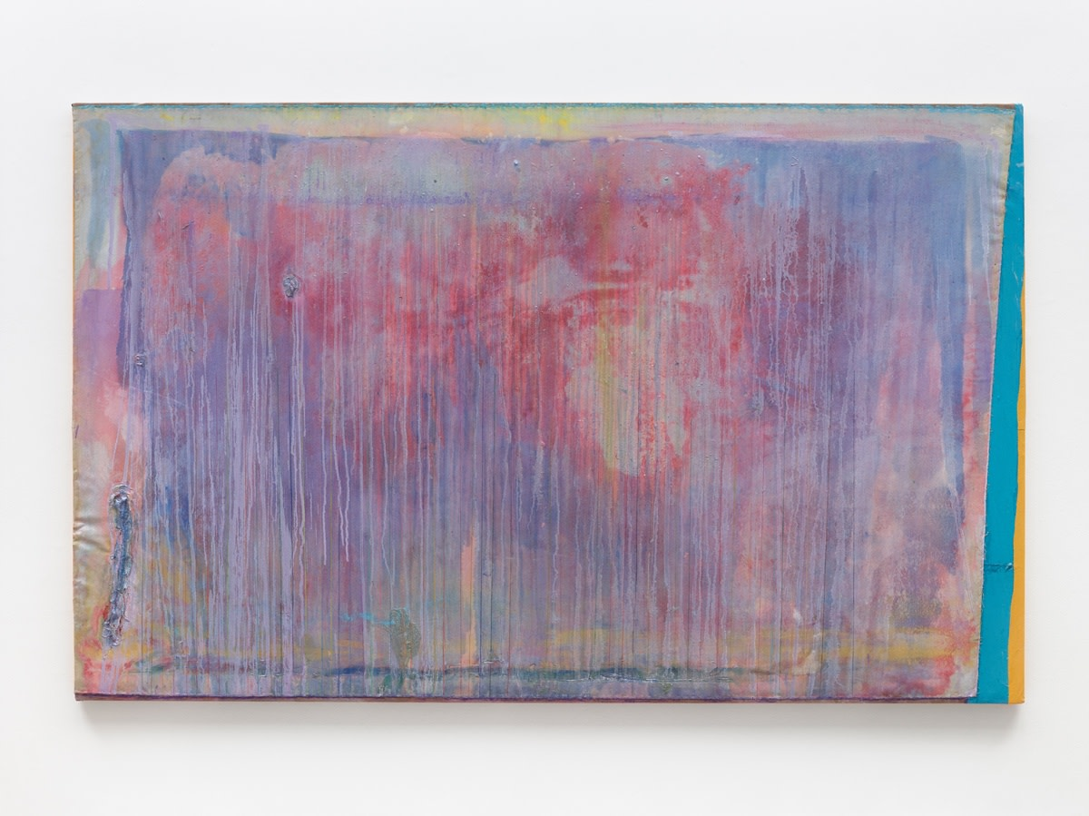 Frank Bowling According to Lorca, 2019 Acrylic on collaged canvas 183.6 x 293 cm 72 1/4 x 115 3/8 in