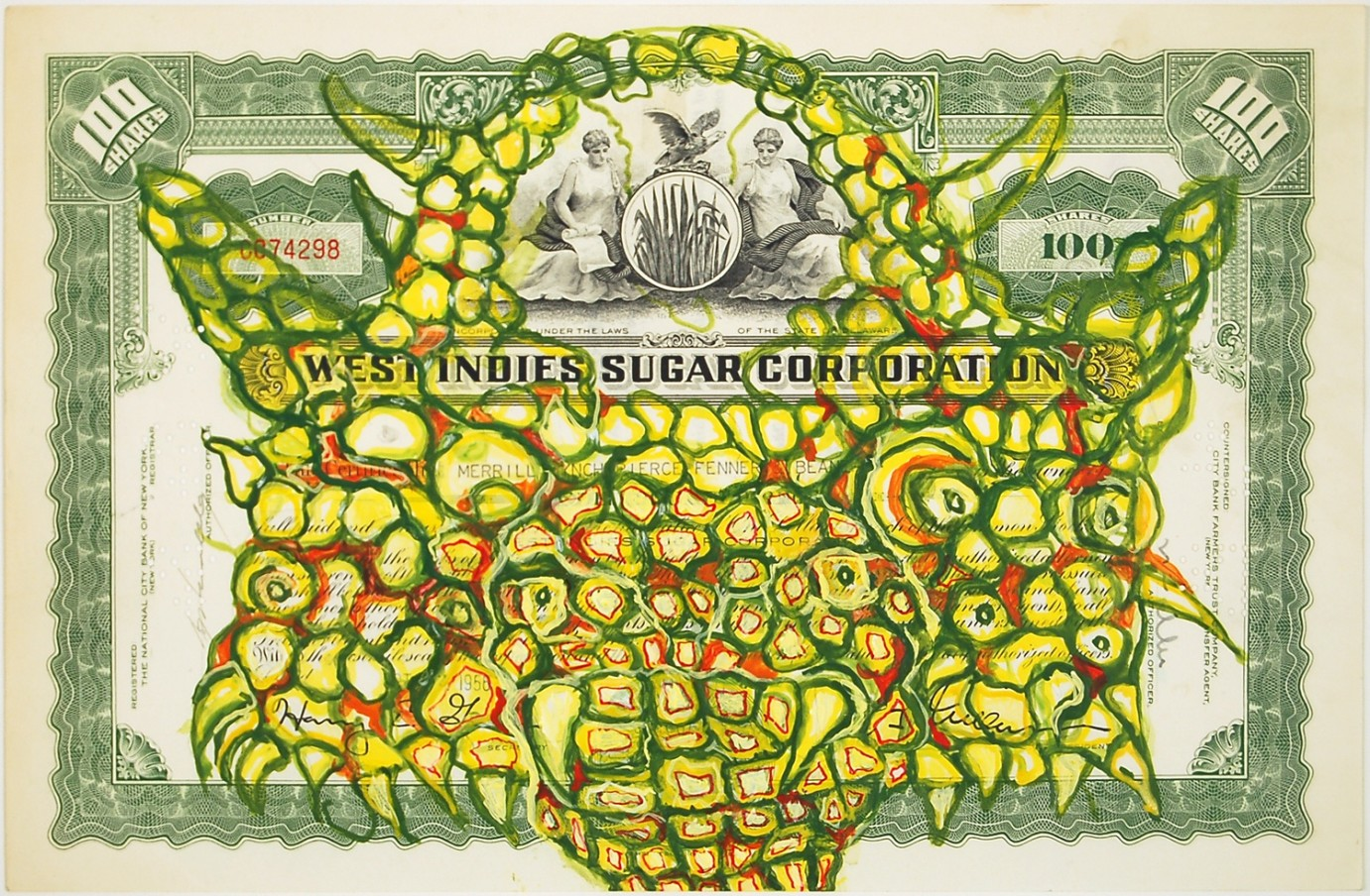 HEW LOCKE West Indies Sugar Corporation, 2009 Acrylic paint on paper 27.8 x 38 cm 11 x 15 in