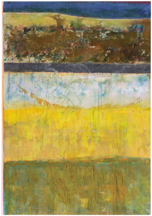 Frank Bowling, About Recent Weather, 2014, acrylic on canvas, 263x185cm