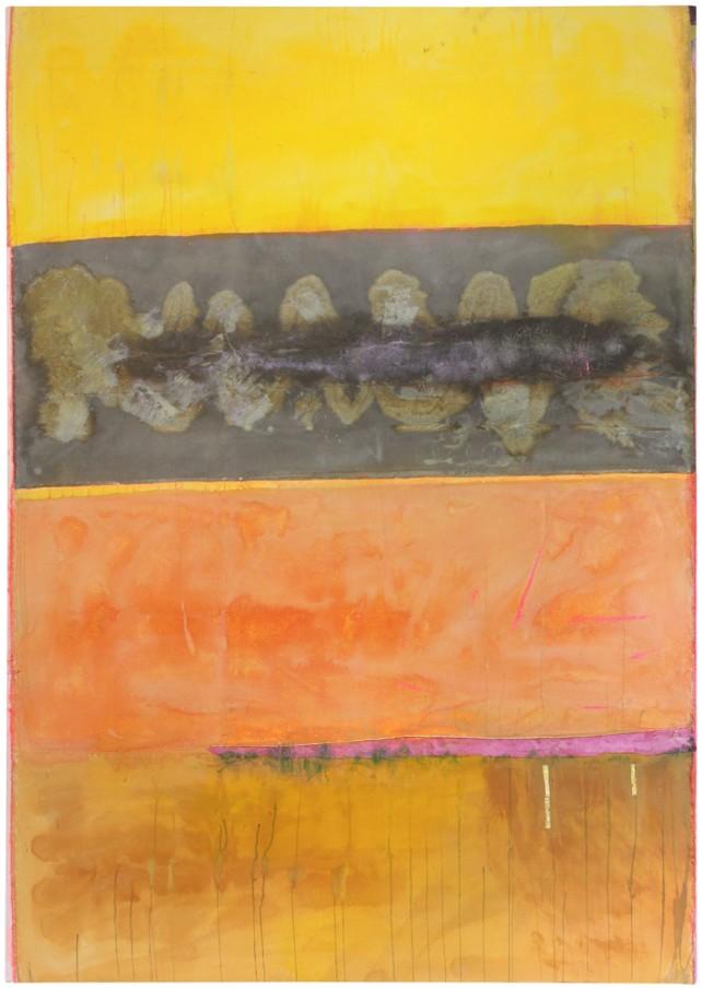 Frank Bowling, Across the Wadi, 2014, acrylic on canvas, 263 x 185 cm