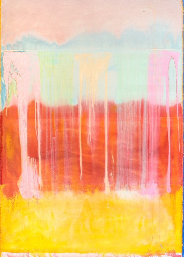 Frank Bowling, Fred'stouch, 2015, acrylic on canvas, 259.8 x 185.8 cm