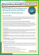 School Library Pack 2014-15, reading group guide, The Terrible Thing that Happened to Barnaby Brocket
