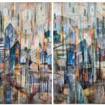 Madonna Phillips, Water Falling Diptych, 2018