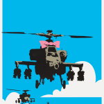 Banksy Happy Choppers print for sale