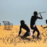 Banksy, Morons (Sepia), 2007