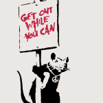 Banksy Get Out While You Can print for sale