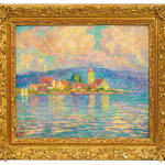 Willy Schlobach, A view of Wasserburg on the Lake Constance , ca. 1920