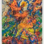 Korakrit Arunanondchai, Painting with history (yellow figure discovers fire), 2020
