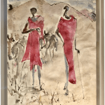 Christine Seifert, Maasai with Herd (Hungerford Gallery)