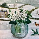 Sarah Bowman, Summer Harbour with Agapanthus (Hungerford Gallery)