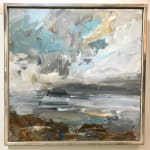 Louise Balaam, Highlands Sky (Blue and Gold) (Hungerford Gallery)