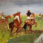 Antoine de La Boulaye, Orientalist Horsemen IV Yellow