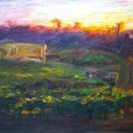 Jian Wang, Sunrise, Wine Country In Summer, 2002
