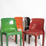 Vico Magistretti, Red 'Selene' chairs