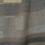 Catarina Riccabona, Handwoven 'Black & White with Caramel Brown' wall panel