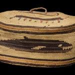 Lidded Pictorial Trinket Basket