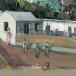 Gerard_Byrne_Caribbean_Dreams_Sandycove_II_painting_detail_contemporary_impressionism_fine_art_gallery_Dublin_Ireland