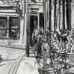 Gerard_Byrne_Out_With_Friends_contemporary_impressionism_fine_art_gallery_painting_detail