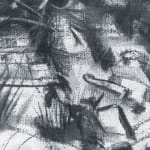 Gerard_Byrne_Sandycove_Rocks_contemporary_impressionism_fine_art_charcoal_painting_detail
